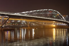 Nightscape bridge Royalty Free Stock Photography