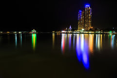Nightscape, building Royalty Free Stock Photo