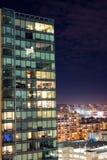 Nightscape byggnad - San Francisco Fotografering för Bildbyråer