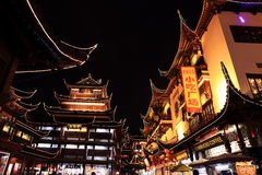 Nightscape of China historic town Royalty Free Stock Photography