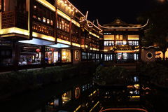 Nightscape of China historic town Royalty Free Stock Images