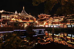 Nightscape of China historic town Stock Photography