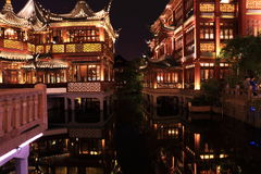 Nightscape of China historic town Stock Photos
