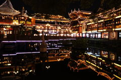 Nightscape of China historic town Royalty Free Stock Photo