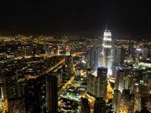 A nightscape of a cityscape Stock Image
