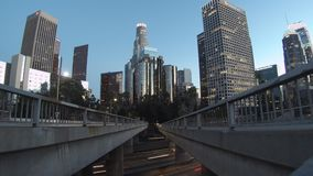 Nightscape clásico de Los Ángeles céntrico metrajes