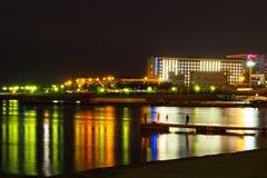 Nightscape con Novorossijsk Immagine Stock