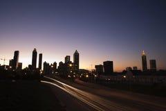 Nightscape de Atlanta Fotografía de archivo libre de regalías