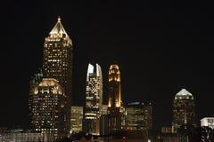 Nightscape de Atlanta Imágenes de archivo libres de regalías