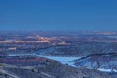 Nightscape de Fort Collins Imagen de archivo