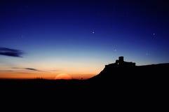 Nightscape de la fortaleza Imagenes de archivo