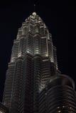Nightscape de torres gêmeas de Petronas Imagens de Stock