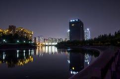 Nightscape della città Fotografie Stock Libere da Diritti