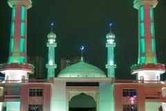 Nightscape della moschea immagini stock