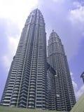 Nightscape delle torri gemelle di Petronas Fotografia Stock