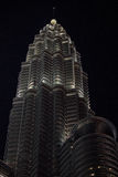 Nightscape delle torri gemelle di Petronas Immagini Stock