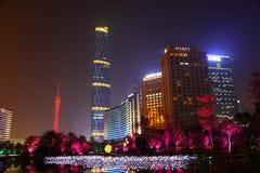 Nightscape des Huacheng Hui Stockbild