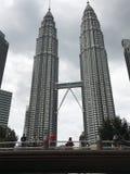 Nightscape des Tours jumelles de Petronas Images libres de droits