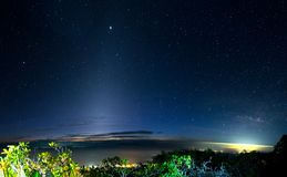 Nightscape a Doi Luang Chiang Dao Province Chiang Mai Thailand immagine stock