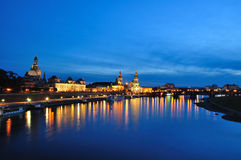 Nightscape of Dresden stock images