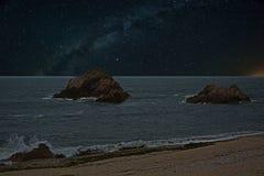 Nightscape e a Via Látea #2 Imagem de Stock