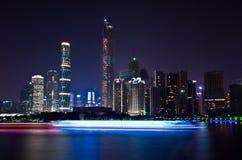 Nightscape of guangzhou china Royalty Free Stock Image