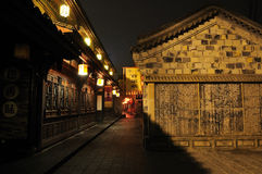 Nightscape of Jinli Promenade Stock Images
