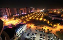 Nightscape of luoyang city. The night scene of luoyang City. which is famous for peony flower in China stock images