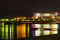 Nightscape mit Novorossiysk Stockbild