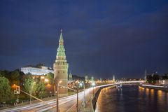 Nightscape of Moscow Kremlin Royalty Free Stock Image