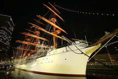 Nightscape sail. Yokohama. Japan. Nightscape sail and landmark Royalty Free Stock Images