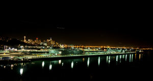 Nightscape Seattle Royalty Free Stock Photography