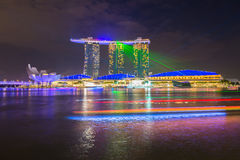 Nightscape of Singapore downtown Royalty Free Stock Image