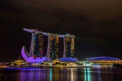 Nightscape of Singapore Marina Bay Sand Royalty Free Stock Image