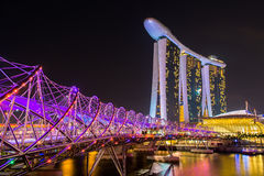 Nightscape of Singapore Marina Bay Sand. Singapore Royalty Free Stock Images