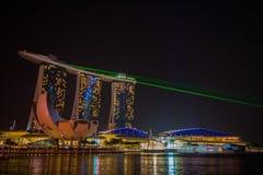 Nightscape of Singapore Marina Bay Sand Royalty Free Stock Images