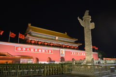 The nightscape of Tiananmen Royalty Free Stock Images