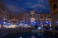 Nightscape Venedig skjuta på natten arkivbild