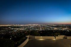 Nightscape von LA Lizenzfreie Stockfotos