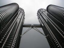 Nightscape von Petronas-Twin Towern Lizenzfreie Stockfotografie