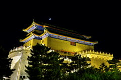 The nightscape of the zhengyangmen Stock Images