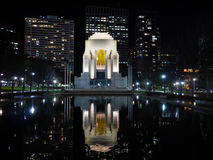 The nightscene of ANZAC War Memorial, Hyde Park, Sydney Royalty Free Stock Photo
