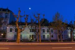 Nightscene in Biel/Bienne Royalty-vrije Stock Afbeelding