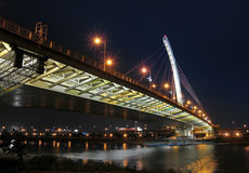 Nightscene of bridge. The bridge is located in Taiwan Royalty Free Stock Images