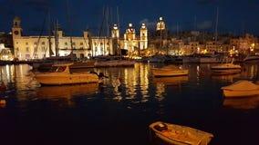 Nightscene di La Valletta Fotografie Stock Libere da Diritti