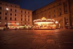 Nightscene a Firenze - carosello Fotografia Stock Libera da Diritti