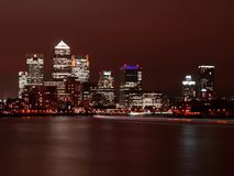 Nightscene of London city. With skyscrapers Royalty Free Stock Photos