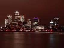 Nightscene van de stad van Londen royalty-vrije stock foto's