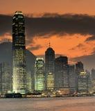 Nightscenes de Hong Kong Imagens de Stock Royalty Free