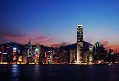Nightscenes of Hong Kong. Nightsceen of Victoria Harbour, Hong Kong Royalty Free Stock Image